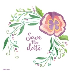 Watercolor floral set vector