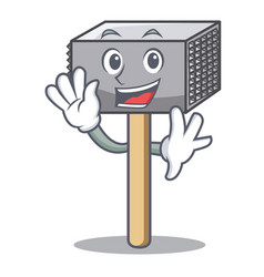 waving hammer cartoon for tenderizer the meat vector image