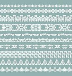 White vintage borders vector