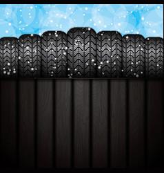 Winter tires vector