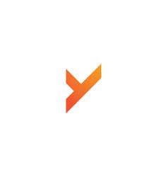 y letter logo business vector image