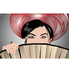 Young japanese woman vector