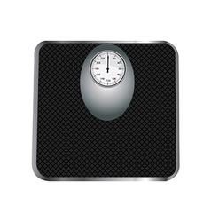 Black floor scales vector image