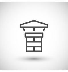 Chimney line icon vector image vector image