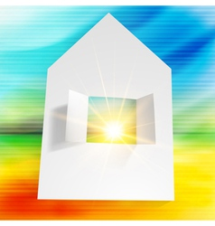 Paper house vector image vector image