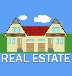 real estate banner with stylized family house vector image