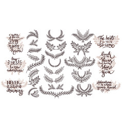 set of design elements thematic phrases vector image