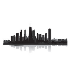 skyline city view cityscape silhouette urban vector image vector image