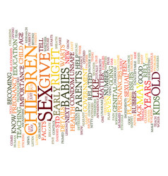 years old and pregnant text background word cloud vector image