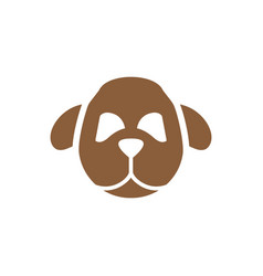 dog head symbol silhouette vector image