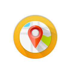 Location icon flat sign white background vector