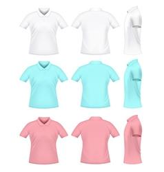 Mens polo t-shirts vector image