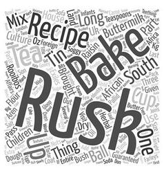Recipe south african buttermilk rusks text vector