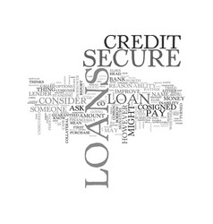 what secure loans are and how you can get one vector image vector image
