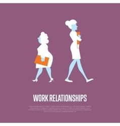 Work relationships banner with businesswomen vector