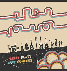 176music party vector image