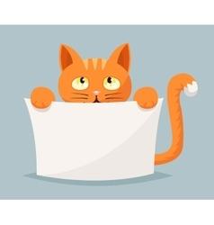 Cat beggar help animals cartoon character vector