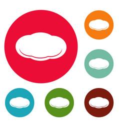 cloud icons circle set vector image