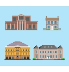 Flat Historical Buildings vector image