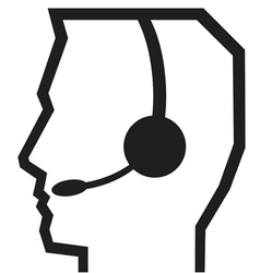 HEADSET CALL CENTER vector image