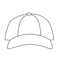 isolated cute beach cap vector image vector image