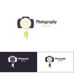 Photography logo three vector