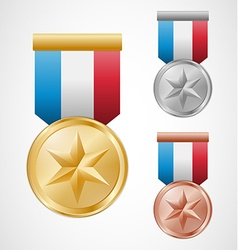 Star medals vector image