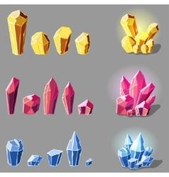 cristals set cartoon vector image