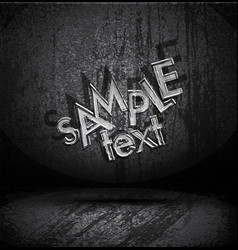 grungy old typography vector image vector image
