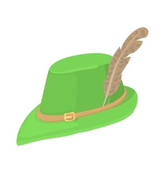 Hunting hat icon cartoon style vector image vector image