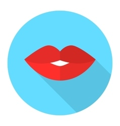 Sexy woman lips flat icon vector image vector image