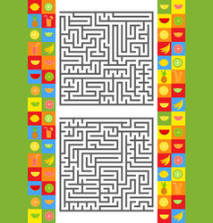 Abstract complex square isolated labyrinth there vector