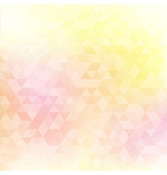 Abstract geometric background with triangles cover vector image