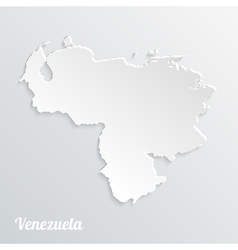 Abstract icon map of venezuela vector