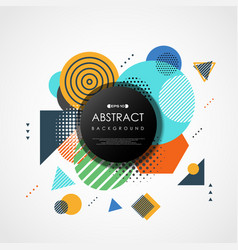 abstract trendy colorful geometric pattern cover vector image