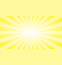 abstract yellow sun rays background summer sunny vector image