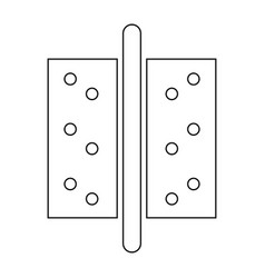 Accesories for door the black color icon vector