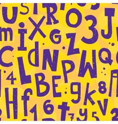 Alphabet yellow pattern vector image