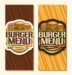 banners for burger menu vector image