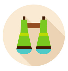 binoculars circle icon vector image