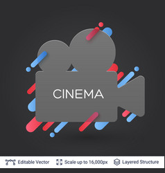 Black badge cinema sticker vector