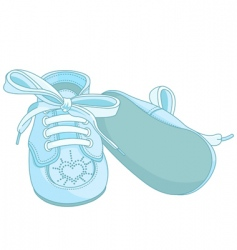 Blue baby shoes vector