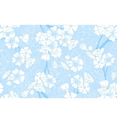Blue Blossom Seamless vector image