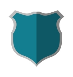 Blue shield protection security shadow vector