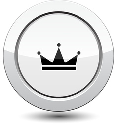 Button with crown vector image