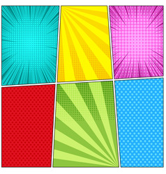 Comic book light background vector