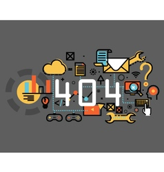 Concepts of terms 404 and under construction vector image