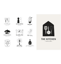 cooking baking and homemade food collection vector image