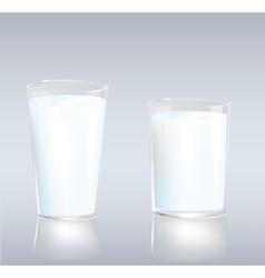 Cups of milk vector image