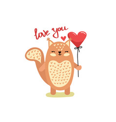 cute funny squirrel vector image